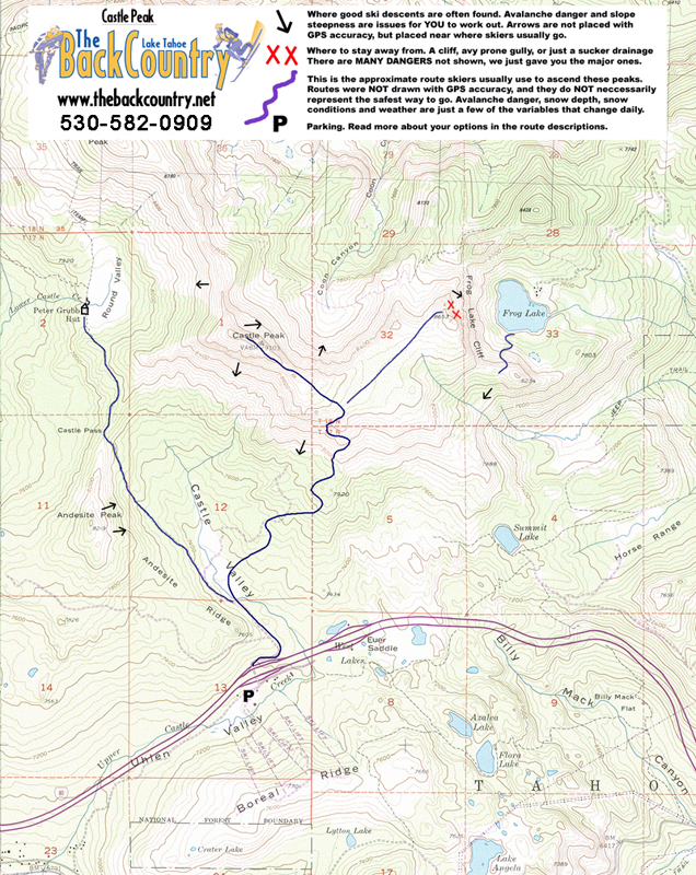 Castle Peak Topo Map