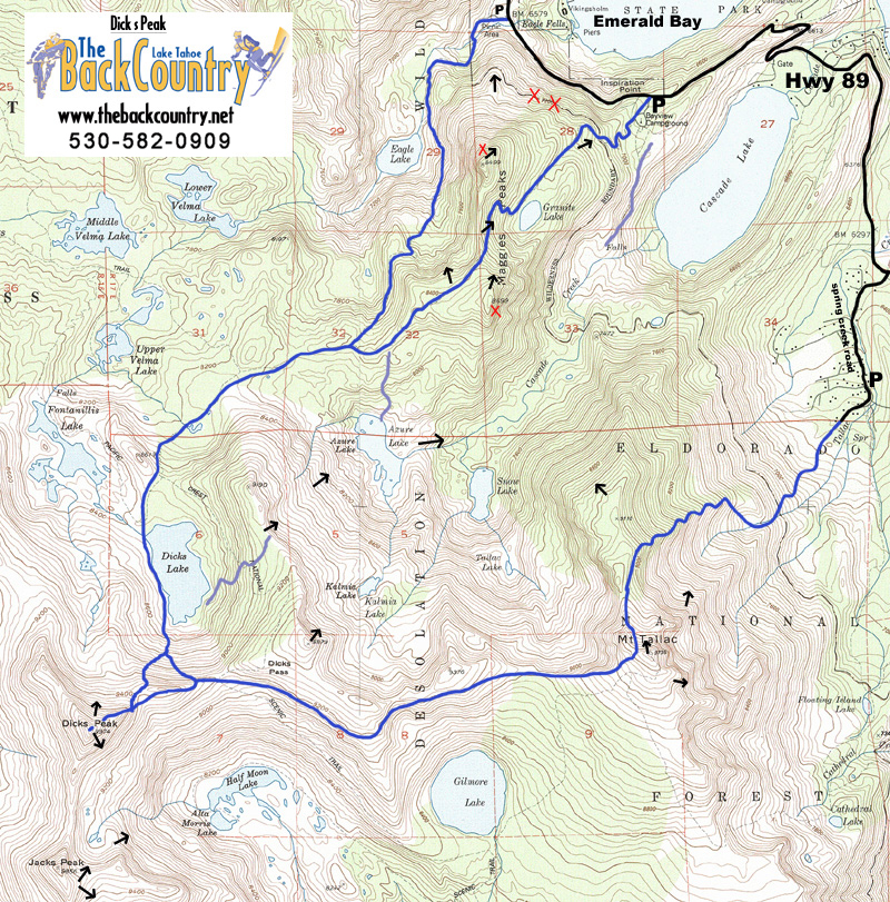 Dicks Peak Topo Map