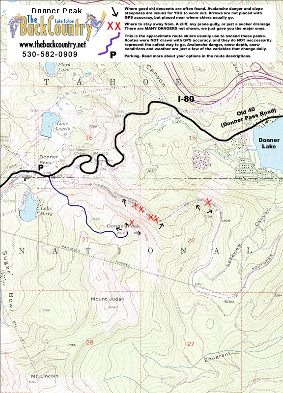 Donner Peak Topo Map