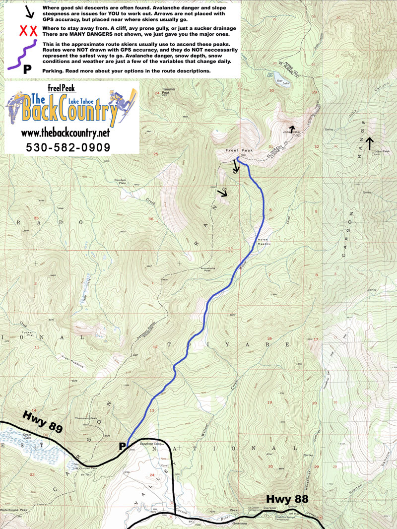 Freel Peak Topo Map