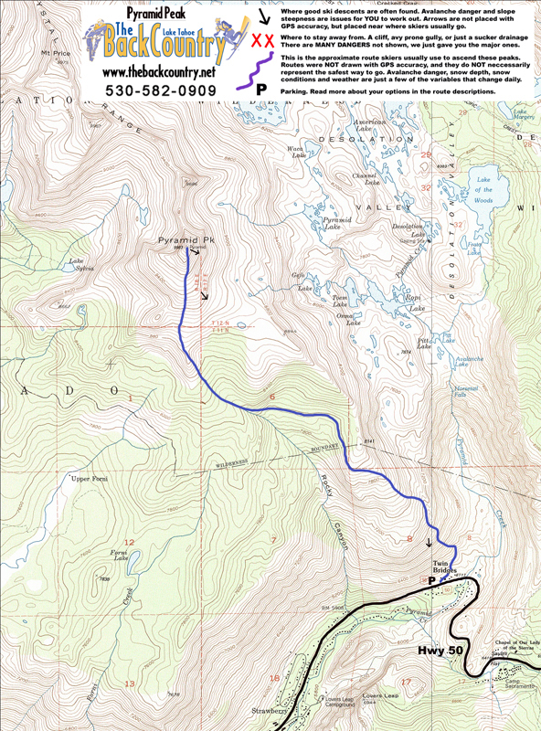 Pyramid Peak Topo Map