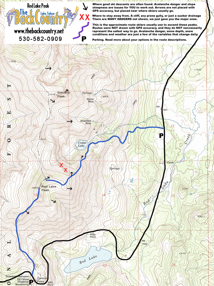 Red Lake Peak Topo Map